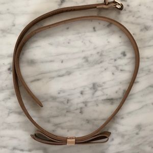 Ted Baker patent leather belt with bow detail